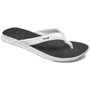 Reef Womens Rover Catch Pop Sandals / Flip Flops BLACK / WHITE RA3FEQ